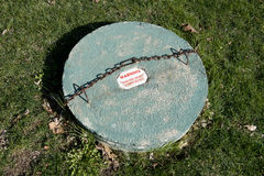 Underground Septic Tank Access Cover Stock Image