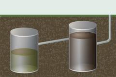 Underground septic tank. Sewage system. Royalty Free Stock Photography
