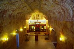 Underground Serbian Church royalty free stock photography