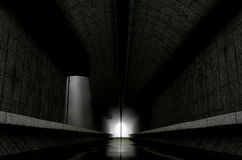 Underground Sewer. A 3D rendering of an underground sewage system with a light emanating in from the distance vector illustration