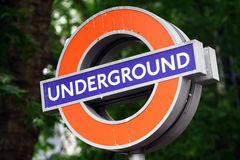 Underground sign Royalty Free Stock Photos