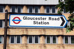 Underground sign Gloucester Road Stock Photos