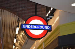 Underground sign Royalty Free Stock Images