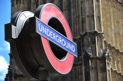 Underground sign in London Royalty Free Stock Photos