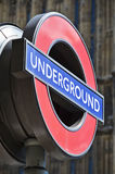 Underground sign in London Stock Image