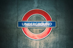 Underground sign Stock Photography