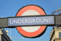 Underground sign Stock Photos