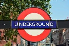 Underground sign Royalty Free Stock Image
