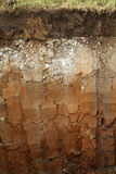 Underground soil layers stock photo