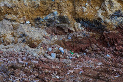 Underground soil layers Royalty Free Stock Image