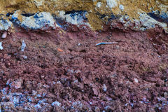 Underground soil layers Royalty Free Stock Photography