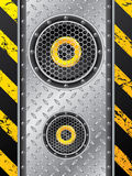 Underground speaker design Royalty Free Stock Photos