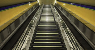 Underground stairs Royalty Free Stock Images