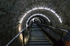 Underground stairs Stock Images