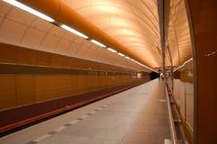 Underground station. An underground station in Prague Stock Image