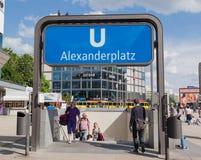 Underground Station Alexanderplatz Berlin Stock Photo