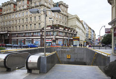 Underground station in centre of Prague. Stock Photos