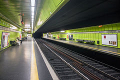 Underground station of city rail Royalty Free Stock Image
