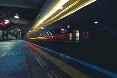 Underground station. Inside view of London underground Royalty Free Stock Photo
