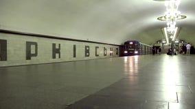 Underground station. In Kiev, Ukraine stock video