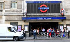 Underground station in London Stock Images