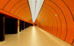 Underground Station in Munich Stock Photos