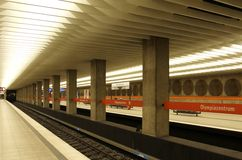 Underground Station in Munich Royalty Free Stock Photos