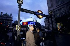 Underground station, Piccadilly circus, London Royalty Free Stock Images