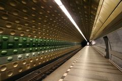 Underground station at Prague Stock Photos