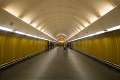Underground station in Prague stock image
