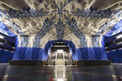 Underground station T-Centralen in Stockholm, Sweden Royalty Free Stock Images