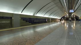 Underground. Station. Train arrival stock footage