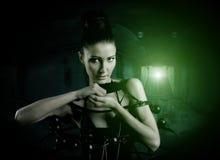 Underground steampunk woman Stock Photography