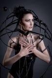 Underground steampunk woman Stock Image