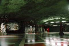 Underground, Stockholm, Sweden Royalty Free Stock Photos