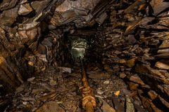Underground Stone Quarry. Deep inside an abandoned underground stone quarry Stock Image