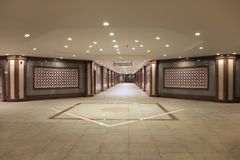 Underground subway in the centre of town. Ashkhabad. Turkmenistan. stock photos
