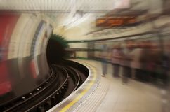 Underground subway station Royalty Free Stock Photos