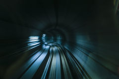 Underground subway track Stock Images