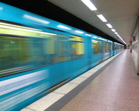 Underground - subway train Stock Image
