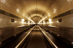Underground subway tunnels Royalty Free Stock Photo