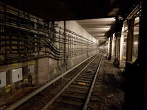 Underground subway tunnels Royalty Free Stock Photography