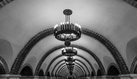Underground Subway Ukraine. Old subway station in Kiev/Ukraine royalty free stock photo