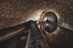 Underground system under city Stock Photo