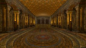 Underground temple Royalty Free Stock Photography