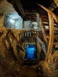 Spectacular salt mine in Turda county, Romania royalty free stock photography