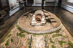 The underground tomb model Royalty Free Stock Image