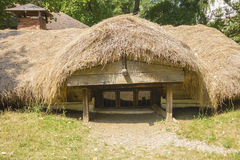 Underground traditional romanian house Stock Image