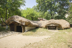 Underground traditional romanian house Stock Photos