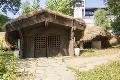 Underground traditional romanian house Royalty Free Stock Image